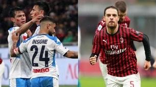 Napoli, riscatto rinviato: 1-1 contro il Milan. E San Siro applaude Ancelotti