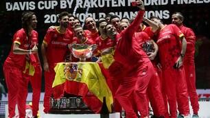 Coppa Davis, la festa della Spagna di Nadal con selfie