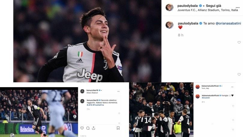 Juve, da Bonucci a Dybala: la reazione social dopo la vittoria contro l'Atletico Madrid