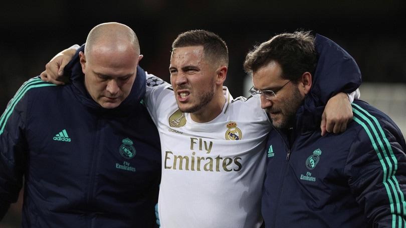 Real Madrid, per Hazard esclusa frattura ma Clasico a rischio