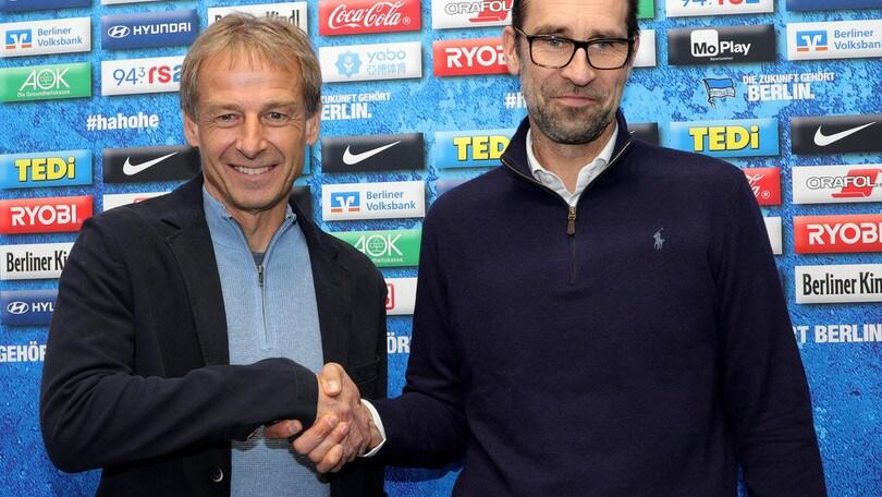 Klinsmann nuovo tecnico dell'Hertha Berlino: è ufficiale