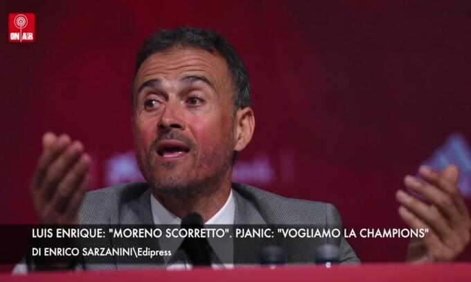 """Luis Enrique: """"Moreno sleale"""". Pjanic: """"Vogliamo la Champions"""""""