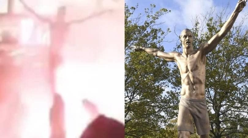 Ibrahimovic, bruciata la statua a Malmoe: il video