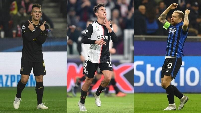 Champions League: Dybala, Gomez e Lautaro incantano la Uefa