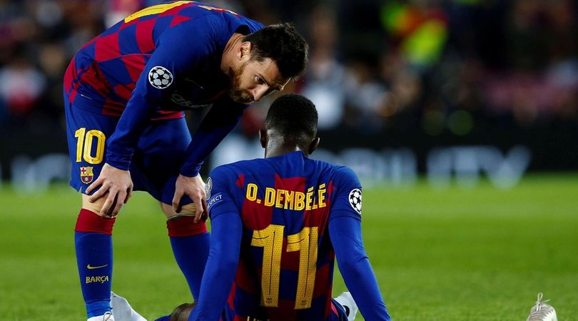 Barcellona, Dembélé finisce ko: salta l'Inter