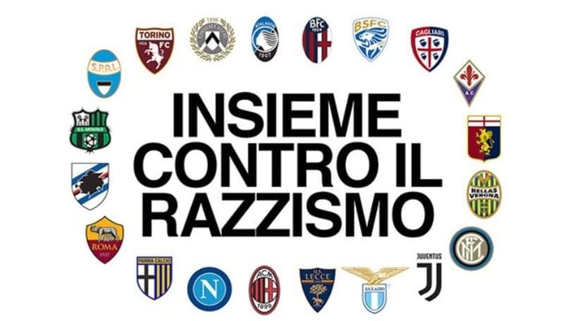 Lettera aperta dei club di Serie A contro il razzismo: