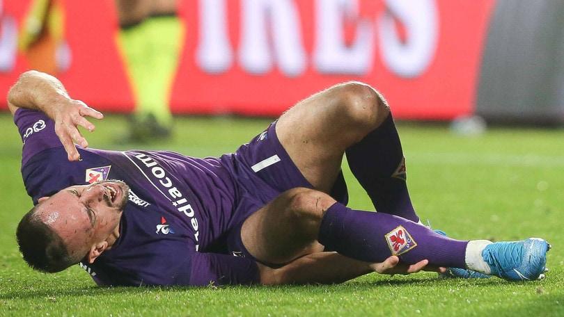 Fiorentina-Lecce, crac alla caviglia per Ribery: esce piangendo