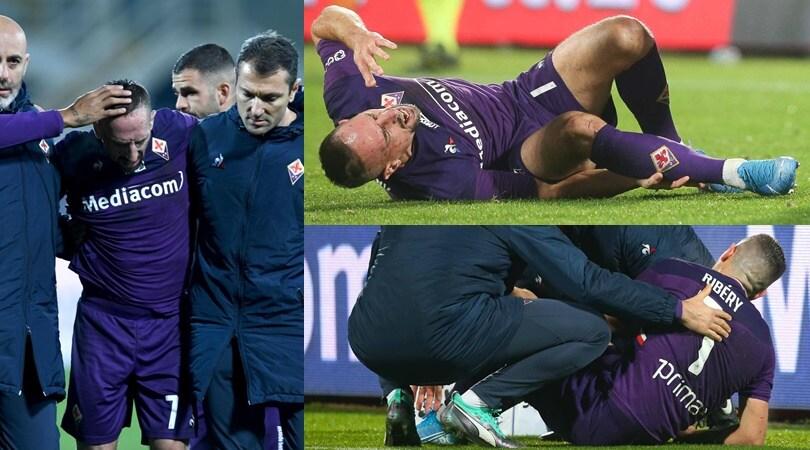 Fiorentina-Lecce, Ribery ko: infortunio alla caviglia destra