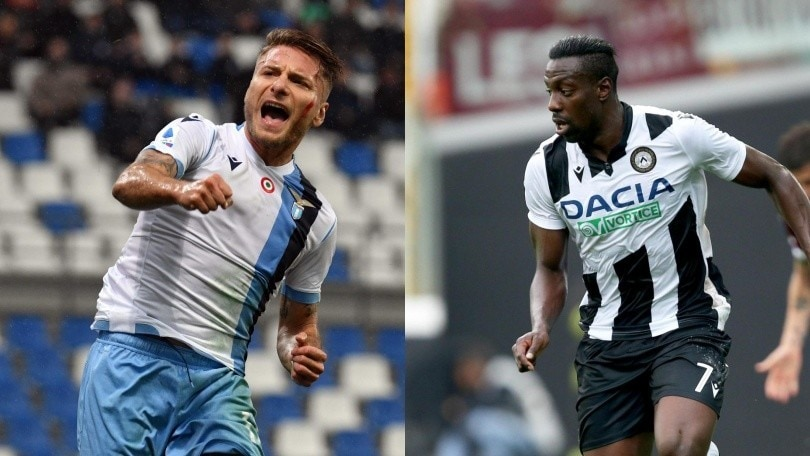 Diretta Lazio-Udinese ore 15: formazioni ufficiali e dove vederla in tv