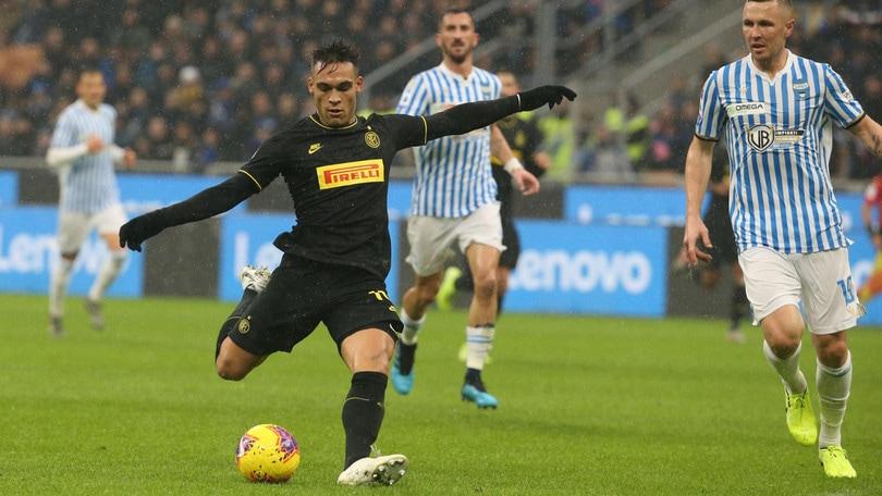 Inter-Spal 2-1, il tabellino