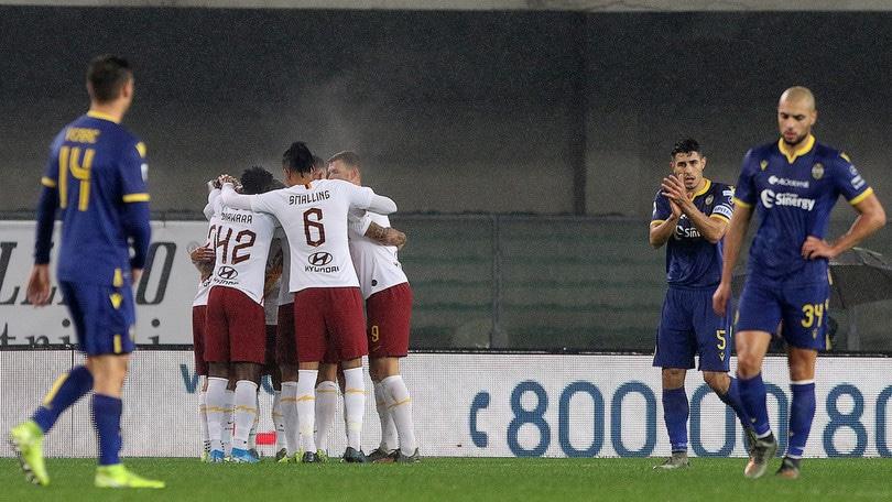 Verona-Roma 1-3, il tabellino