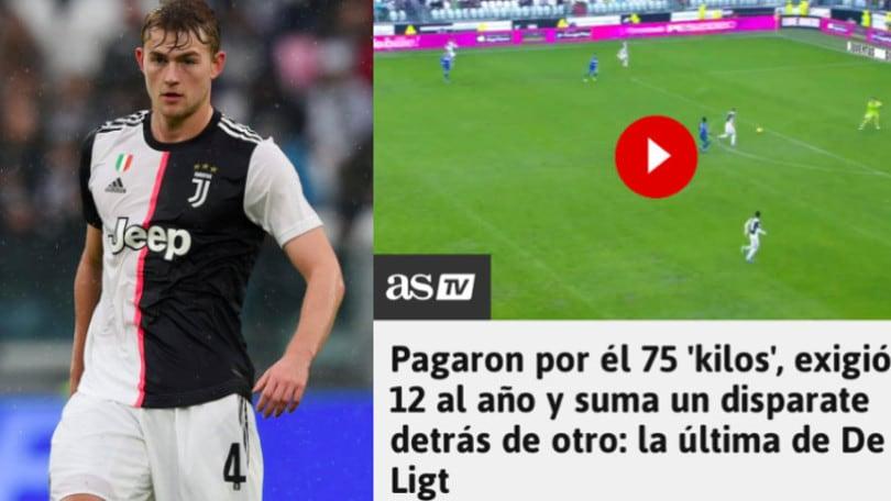 Juve, critiche dalla Spagna per De Ligt: