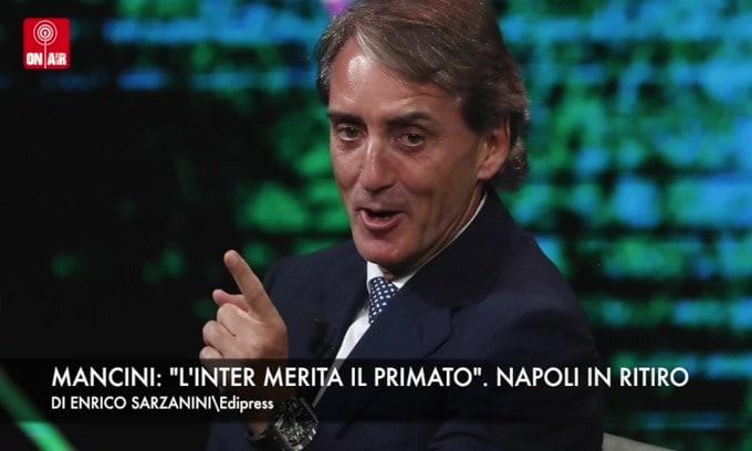"""Mancini: """"L'Inter merita il primato"""". Il Napoli torna in ritiro"""
