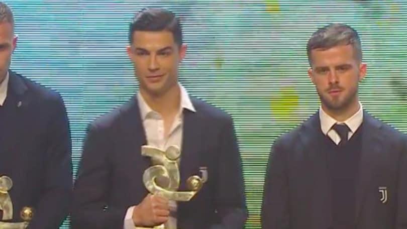 Galà del Calcio Aic: Ronaldo miglior giocatore dell'anno