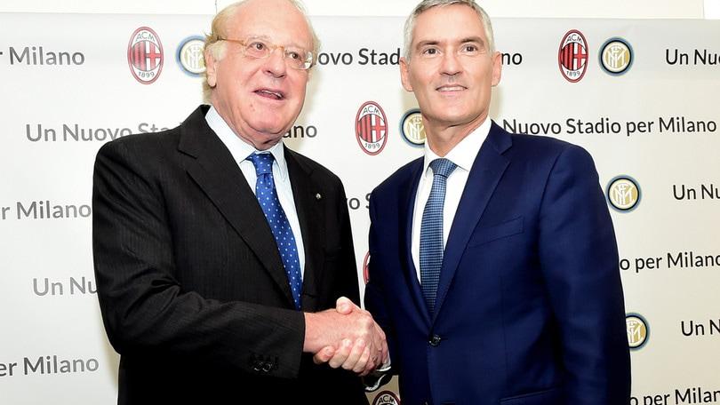 Stadio Milan e Inter, vertice con Scaroni e Antonello: