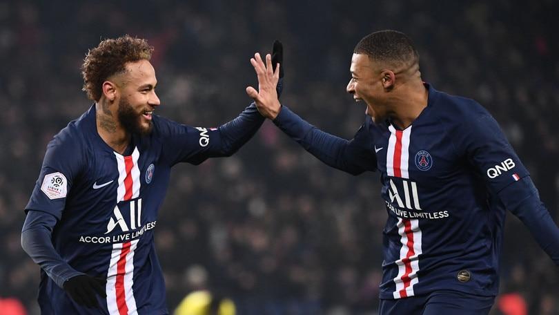Ligue 1, il Psg vince grazie a Mbappè e Neymar. Vittorie per Rennes e Monaco