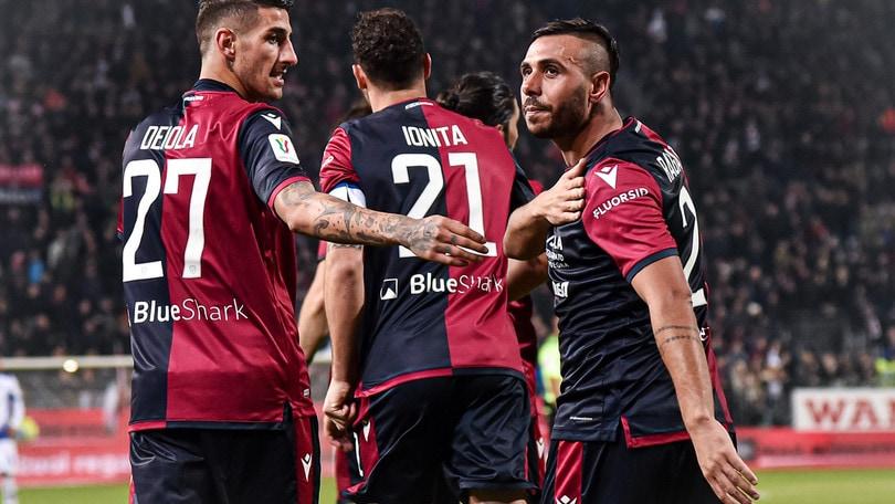 Cagliari-Sampdoria 2-1, anche in Coppa Italia è festa rossoblù