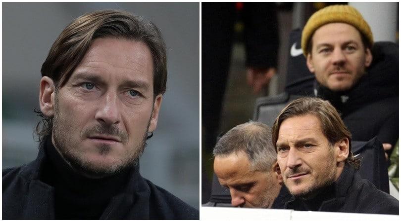 Totti non dimentica la Roma: è al Meazza per il big match con l'Inter