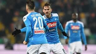 Napoli deludente anche con l'Udinese: Zielinski evita il ko