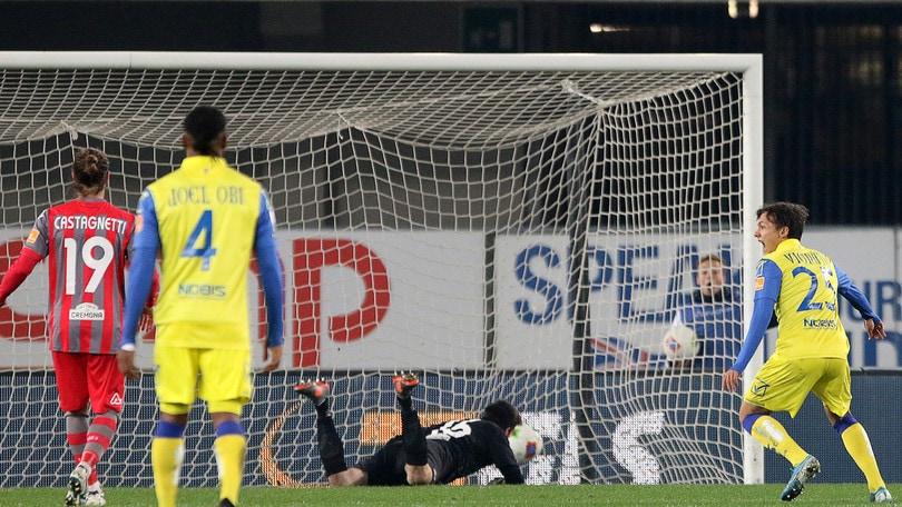 Chievo-Cremonese 1-0. Decide un eurogol di Di Noia