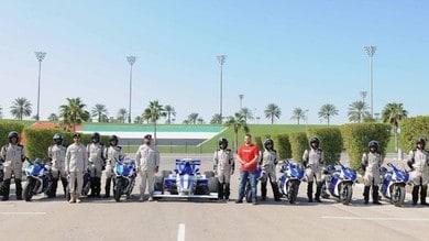 La polizia di Abu Dhabi con la Ducati Panigale V4R
