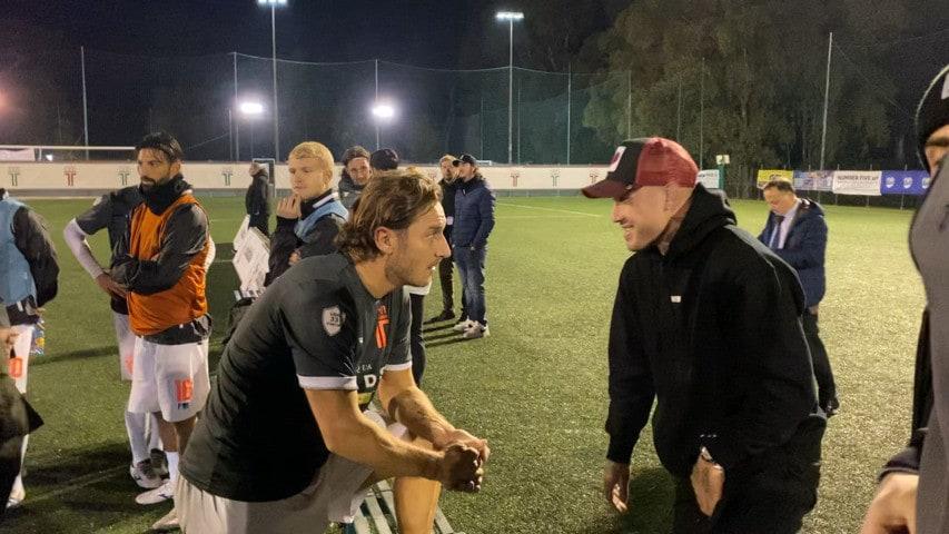 Nainggolan, sorpresa a Totti: il Ninja alla Longarina per vederlo giocare