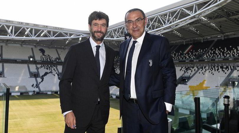 "Juve, Agnelli applaude Sarri: ""Lui ha creduto in noi"""