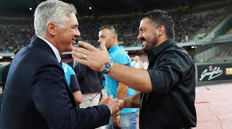 Ancelotti e Gattuso, i tifosi del Napoli si dividono