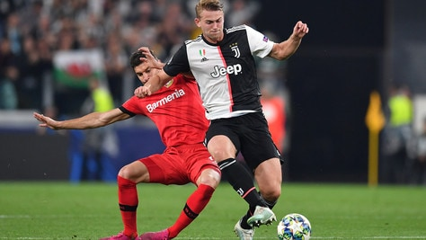 Bayer-Juve, De Ligt non convocato: out anche Ramsey e Douglas Costa