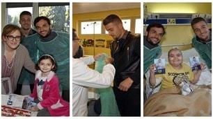 Lazio, Milinkovic e Parolo in visita ai bambini della Clinica Mandelli