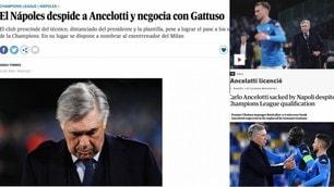 Il Napoli esonera Ancelotti: le reazioni della stampa estera