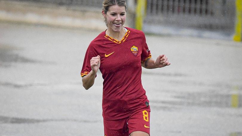 Roma a valanga: contro l'Orobica finisce 6-0 con dedica speciale