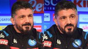 Smorfie e sorrisi, tutte le facce di Gattuso in conferenza stampa