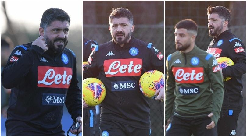 Gattuso, le foto del primo allenamento con il Napoli