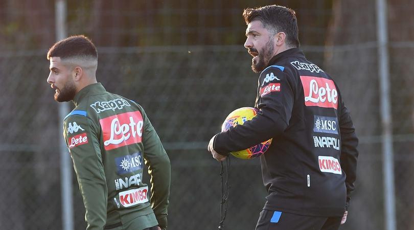 Napoli, i giocatori accolgono Gattuso con 1' di silenzio