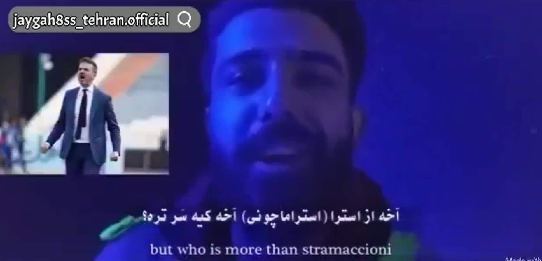 """""""Come back Stramaccioni"""", il video musicale del rapper iraniano diventare virale"""