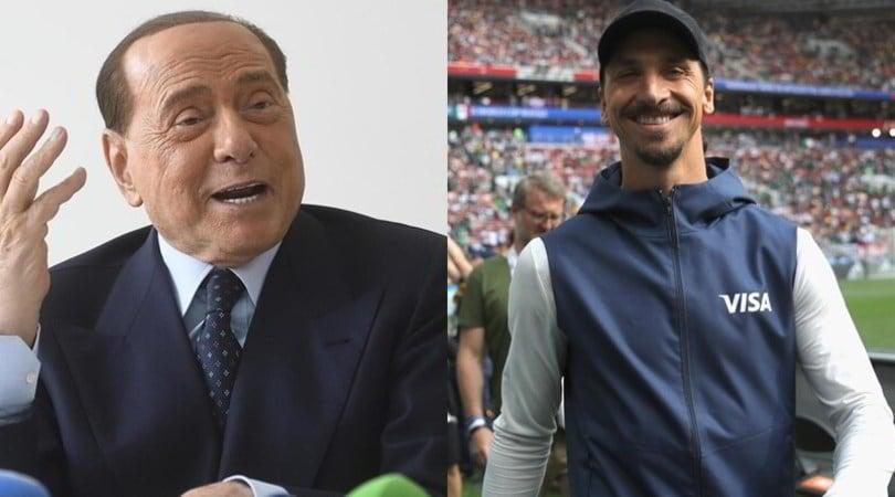 "Berlusconi: ""Ibrahimovic al Milan? Spero venga al Monza"""