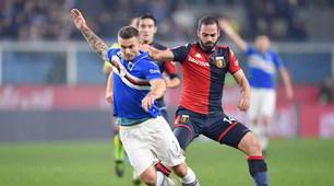 Il derby è della Sampdoria: Gabbiadini-gol, Genoa ko