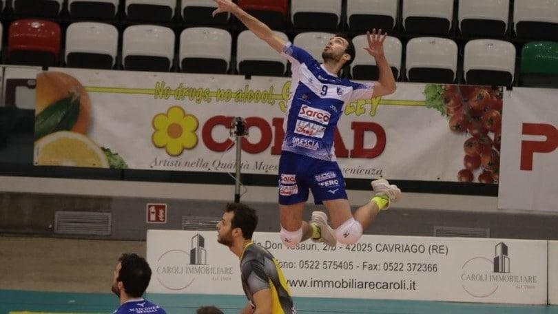 A2 Maschile: Brescia torna da Reggio Emilia con i tre punti
