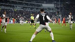 Juve, Cristiano Ronaldo è incontenibile: doppietta e spettacolo con l'Udinese