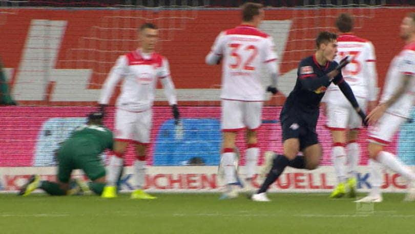 Dusseldorf-RB Lipsia 0-3, gli highlights