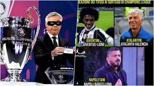 Champions League, il web si scatena sui sorteggi di Juve, Napoli ed Atalanta