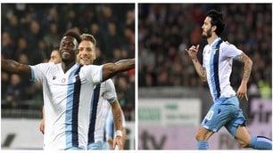 La Lazio ribalta il Cagliari all'ultimo: 2-1 e si vede la vetta