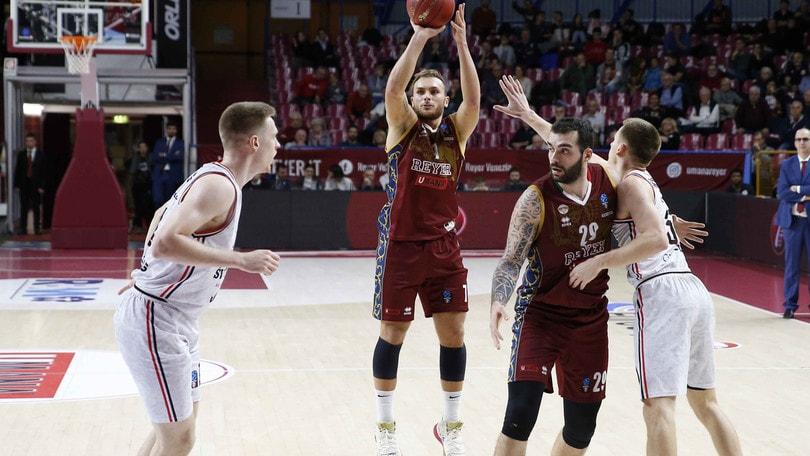 Eurocup, Venezia chiude il girone col sorriso: 76-74 al Rytas Vilnius