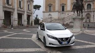 Maratona di Roma 2020, Nissan LEAF è l'auto ufficiale: le foto