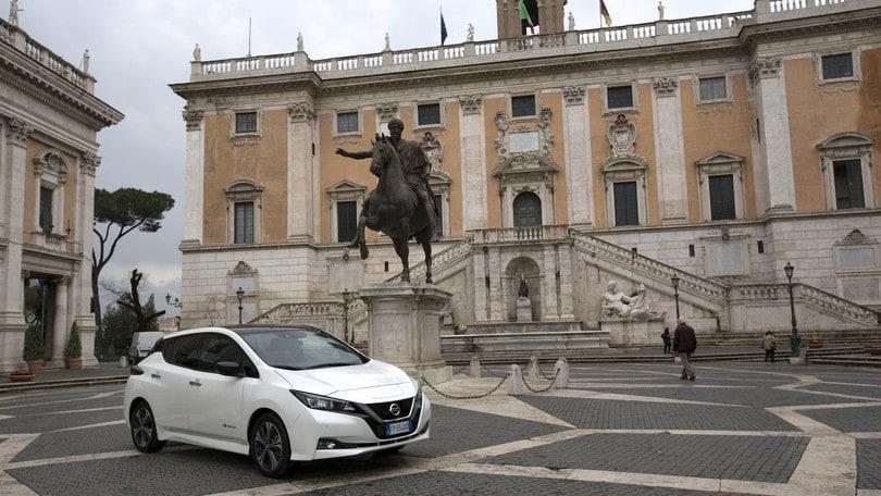 Maratona di Roma: Nissan Leaf scelta come auto ufficiale