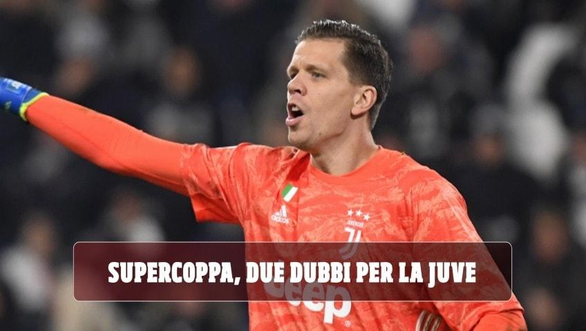 Juve, Szczesny e Alex Sandro in dubbio per la Supercoppa