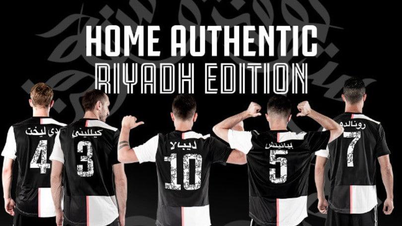 Juventus, una maglia con i nomi in arabo per la Supercoppa a