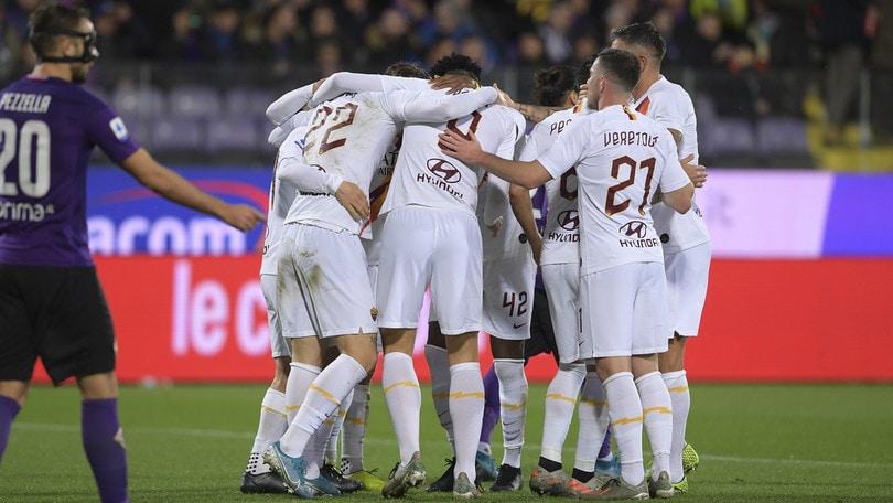 Fiorentina-Roma 1-4, il tabellino