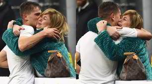 Inter, Esposito segna e va ad abbracciare la mamma